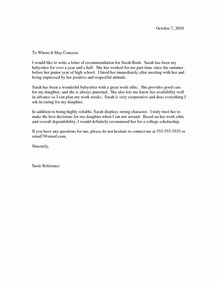 Professional Letter Of Recommendation format Beautiful 10 Best Images About Re Mendation Letters On Pinterest
