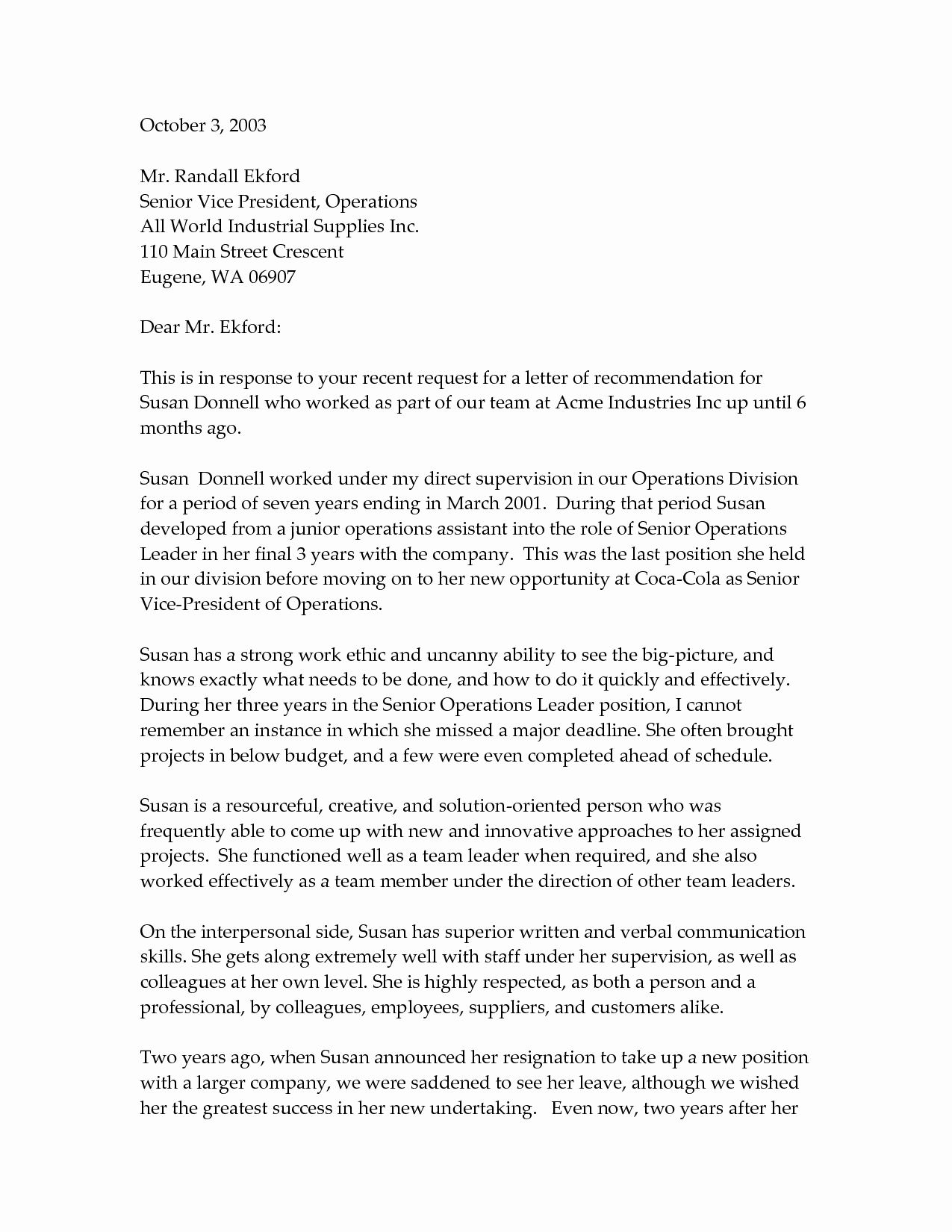 Professional Letter Of Recommendation format Luxury Professional Re Mendation Letter