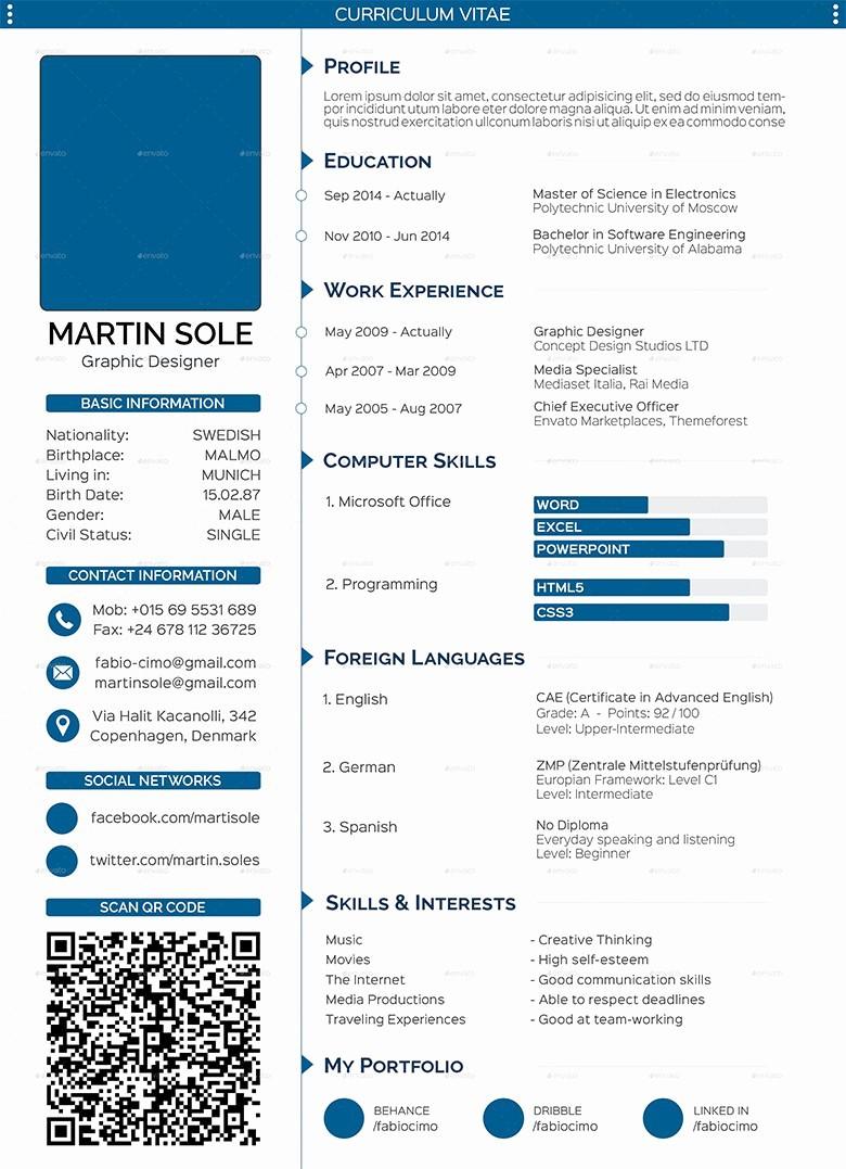 Professional Resume format Free Download Elegant 68 Cv Templates Pdf Doc Psd Ai