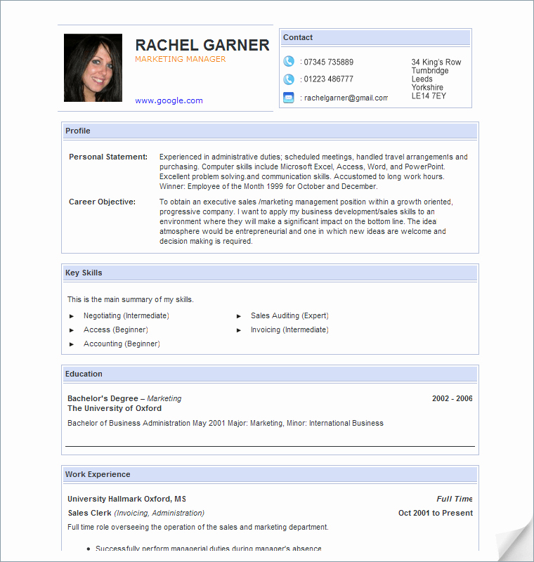 Professional Resume format Free Download Elegant Curriculum Vitae Template Free Download south Africa Free