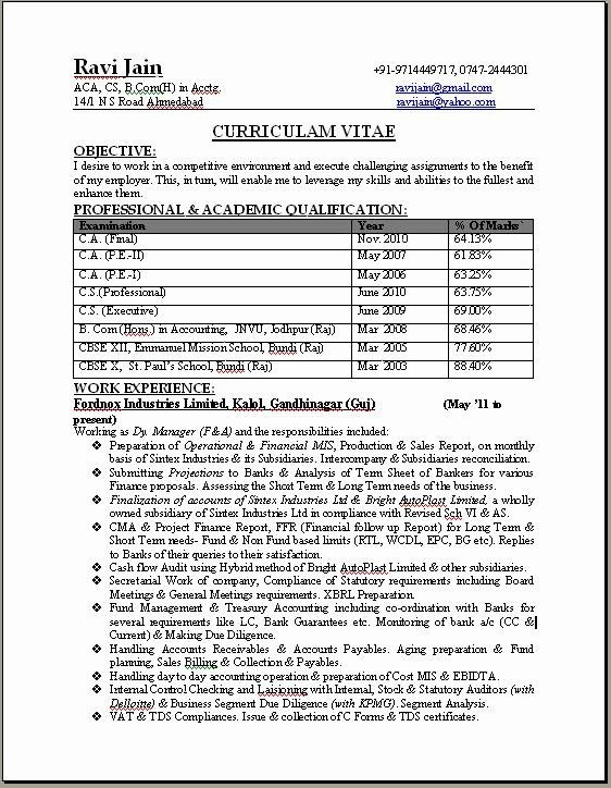 Professional Resume format Free Download Elegant Resume Templates