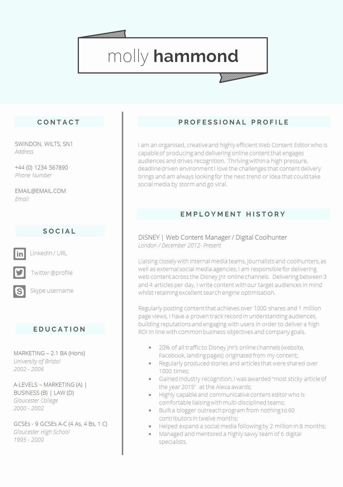 Professional Resume format Free Download Unique 13 Slick and Highly Professional Cv Templates