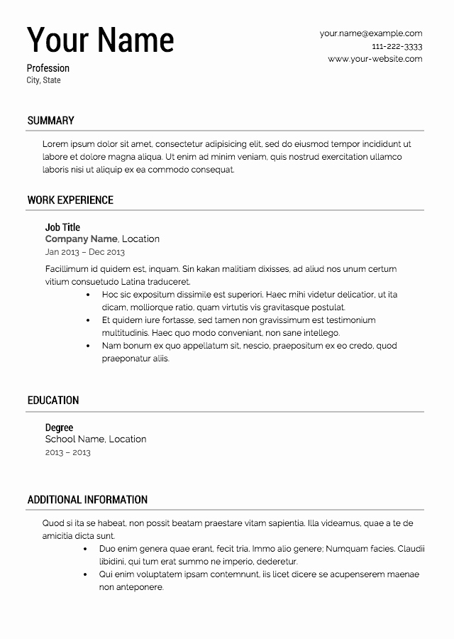 Professional Resume format Free Download Unique Want to Download Resume Samples