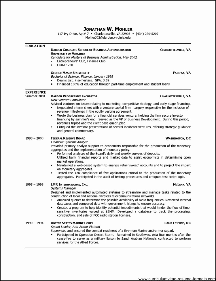 Professional Resume formats Free Download Best Of Free Professional Resume Template Downloads Free Samples