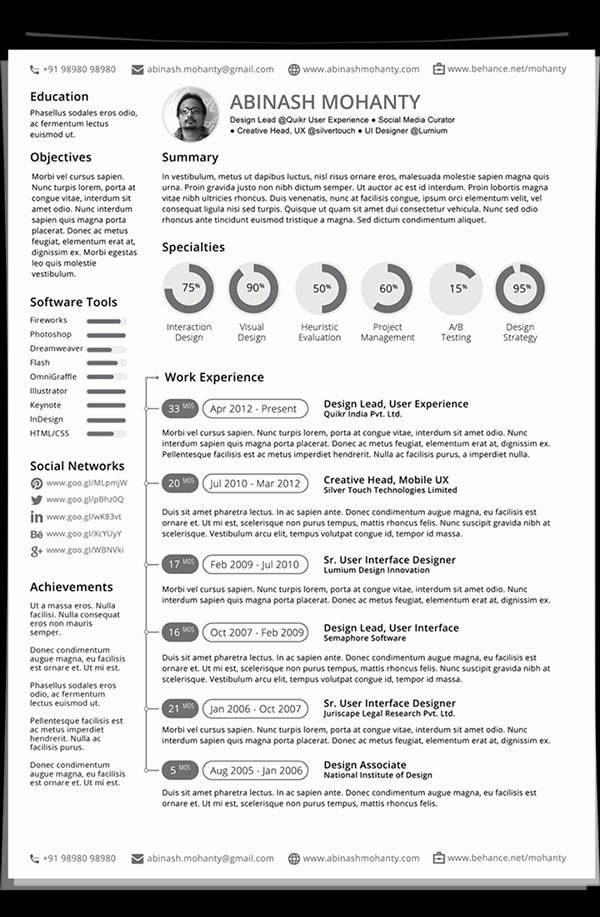 Professional Resume formats Free Download Elegant Free Modern Resume Templates & Psd Mockups