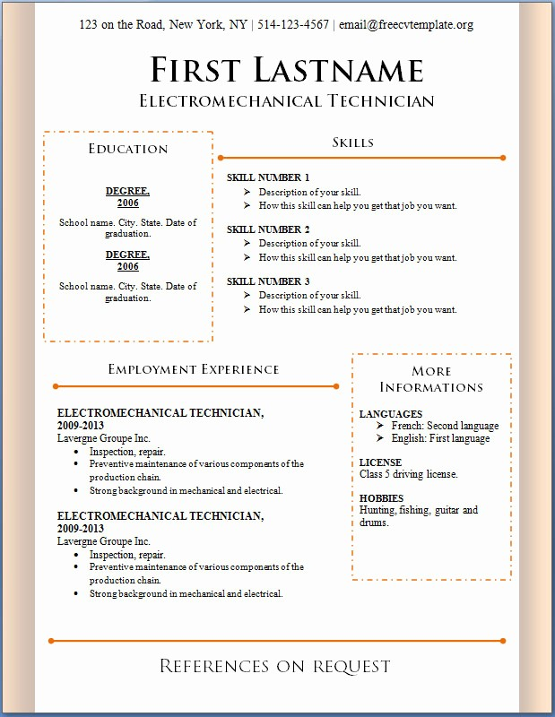 Professional Resume formats Free Download Fresh Free Professional Resume Templates Resume S