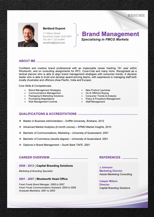 Professional Resume formats Free Download Fresh Professional Resume Template Download