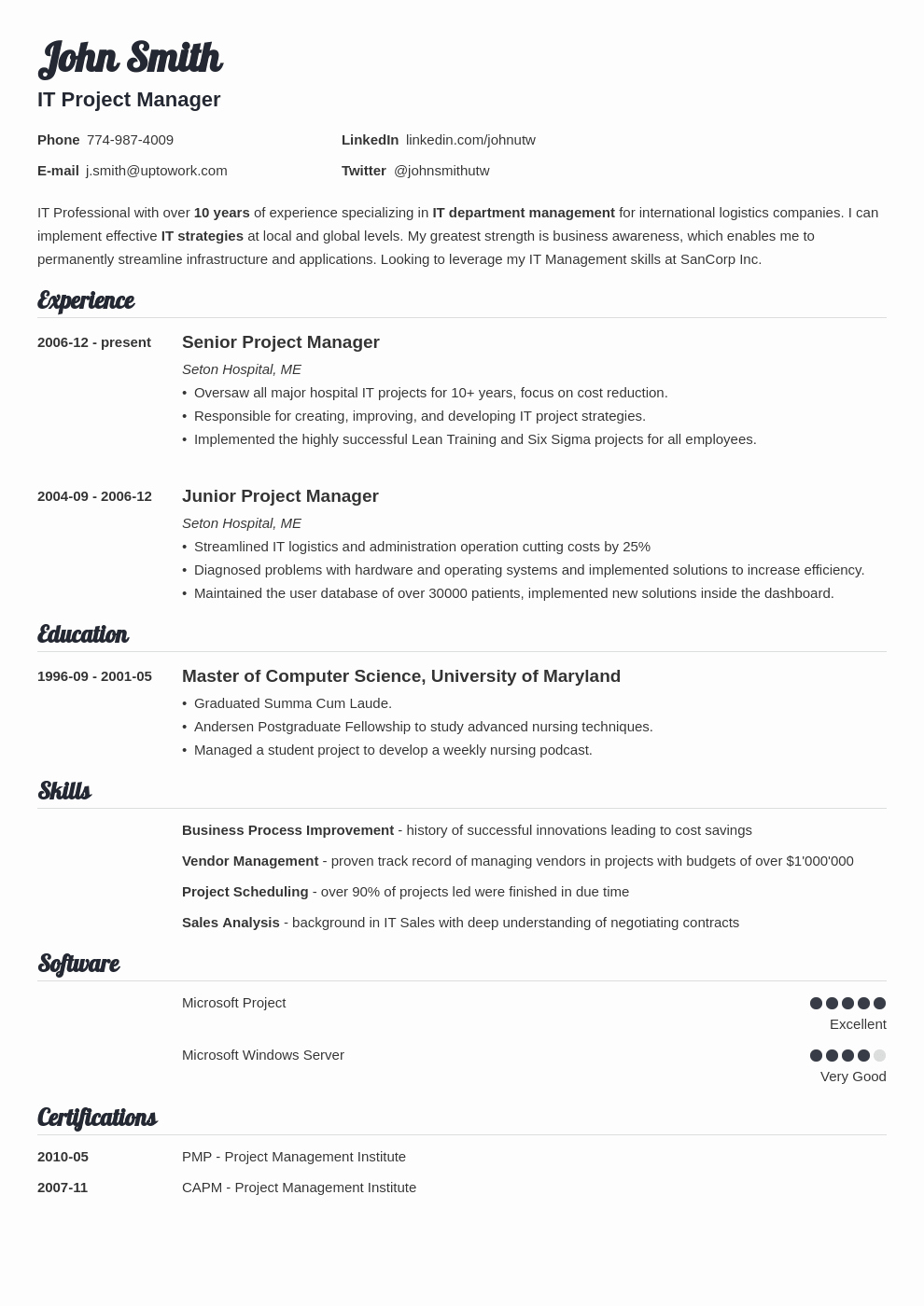 Professional Resume formats Free Download Inspirational 20 Resume Templates [download] Create Your Resume In 5