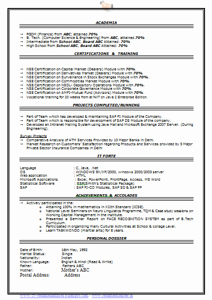 Professional Resume formats Free Download Lovely Over Cv and Resume Samples with Free Download
