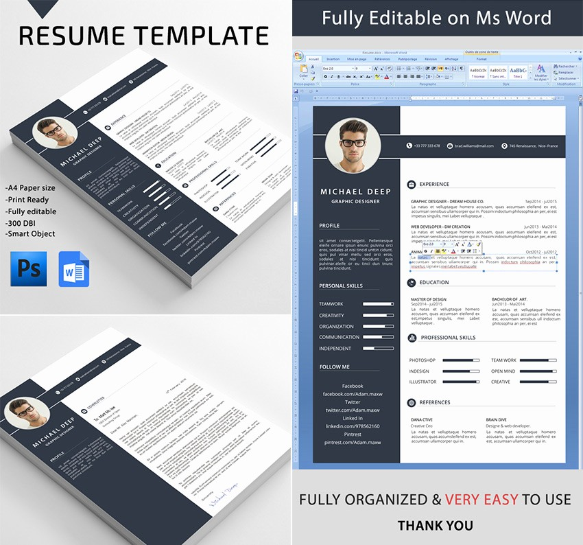 Professional Resume Template Microsoft Word Beautiful 25 Professional Ms Word Resume Templates with Simple