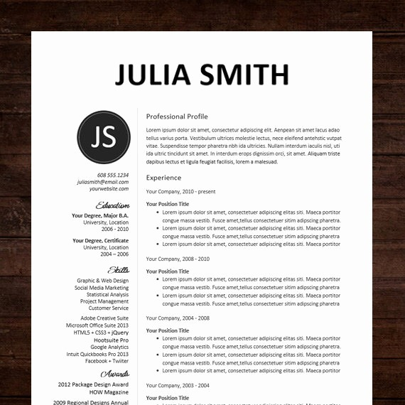 Professional Resume Template Microsoft Word Fresh Amazing Professional Resume Template