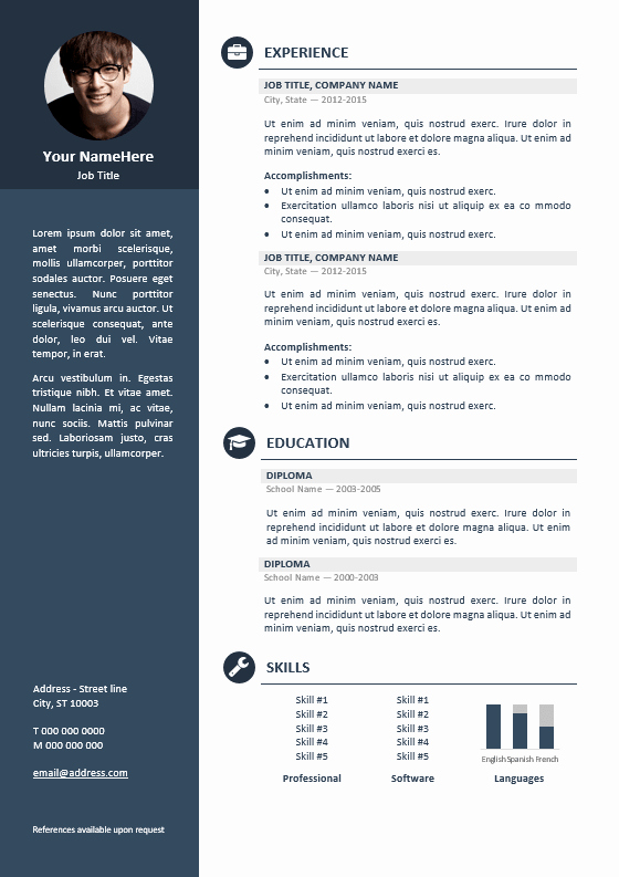 Professional Resume Template Microsoft Word Fresh orienta Free Professional Resume Cv Template