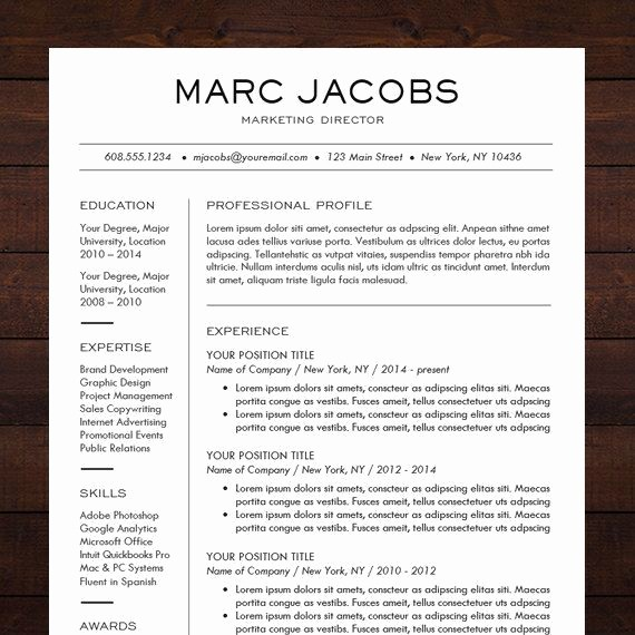 Professional Resume Template Microsoft Word Lovely 1000 Ideas About Professional Resume Template On