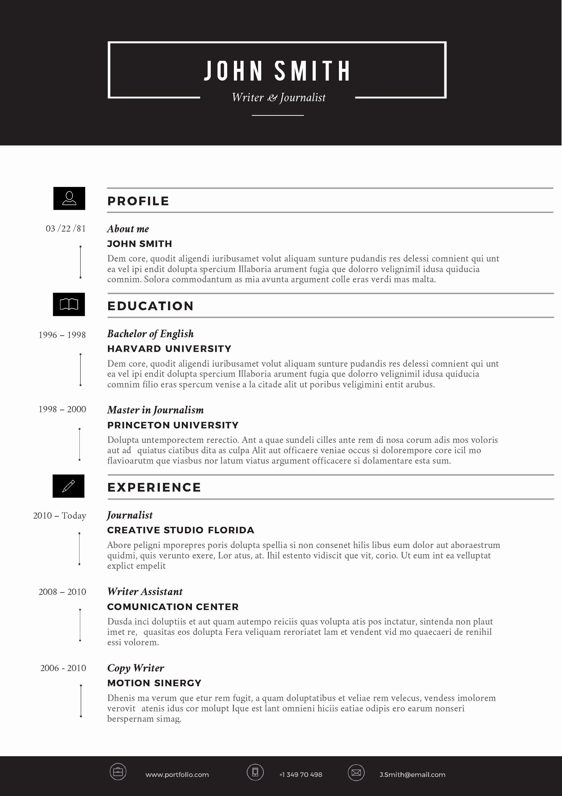 Professional Resume Template Microsoft Word Lovely Creative Resume Template by Cvfolio Resumes