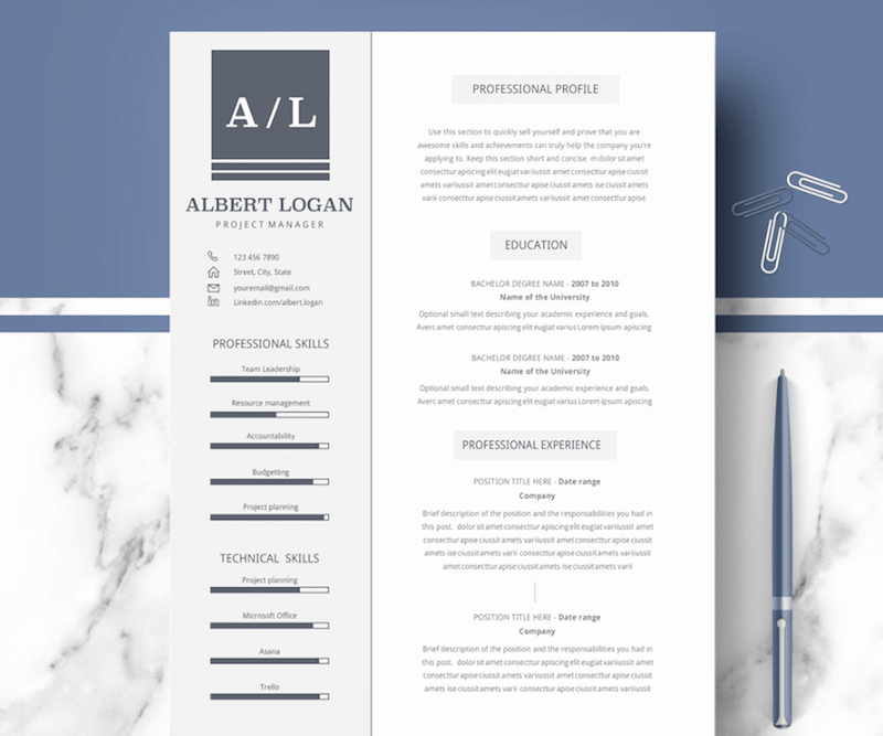 Professional Resume Template Microsoft Word Luxury 60 Plantillas Profesionales De Cv Para Ms Word