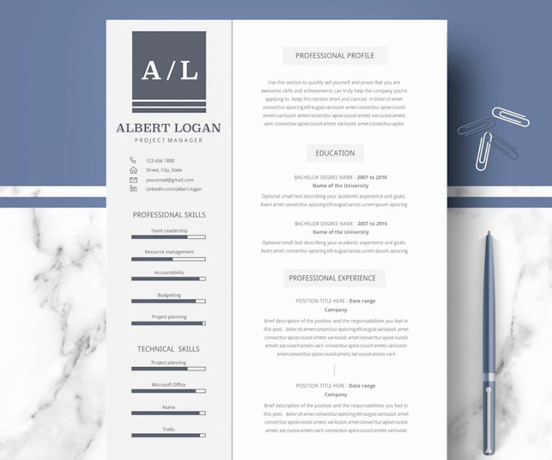 Professional Resume Template Microsoft Word Luxury 60 Plantillas Profesionales De Cv Para Ms Word