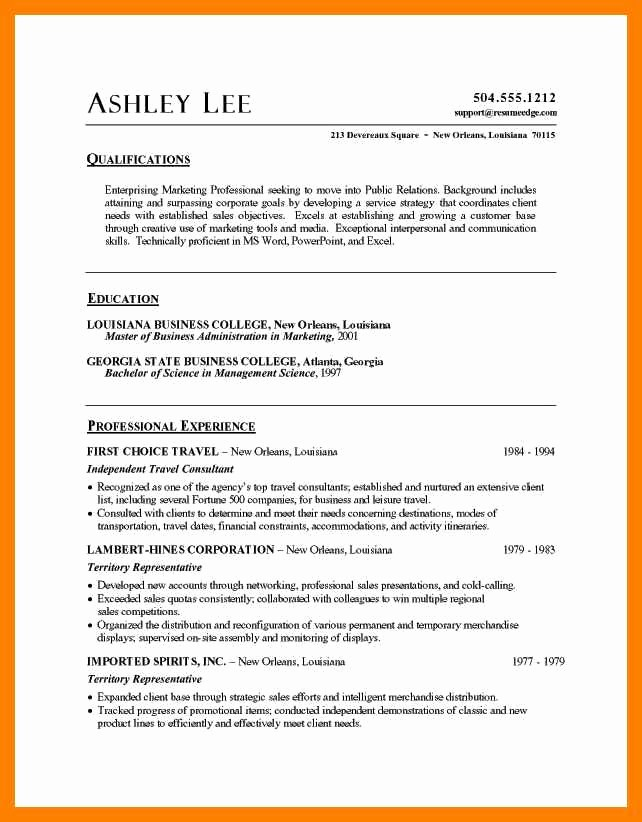 Professional Resume Template Microsoft Word New Microsoft Word Resume Sample