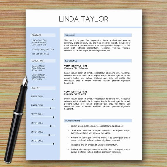 Professional Resume Template Microsoft Word Unique Professional Modern Resume Template for Microsoft Word