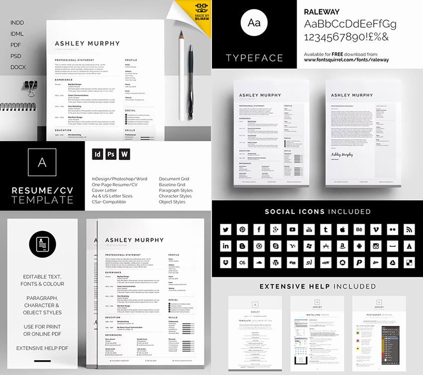 Professional Resume Templates Microsoft Word Awesome 25 Professional Ms Word Resume Templates with Simple