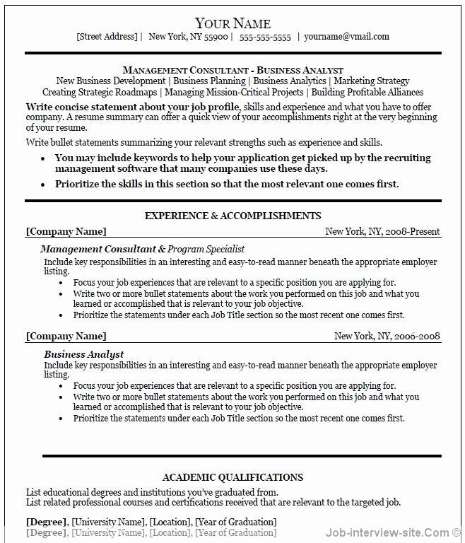 Professional Resume Templates Microsoft Word Unique Professional Resume Template Word