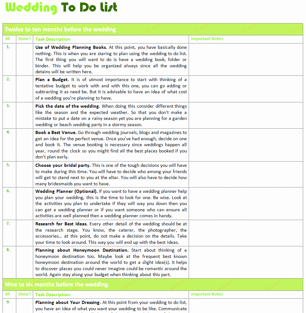 Professional to Do List Template Best Of Bridal Party List Template Mughals