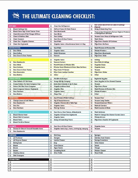 Professional to Do List Template Best Of the Ultimate House Cleaning Checklist Printable Pdf