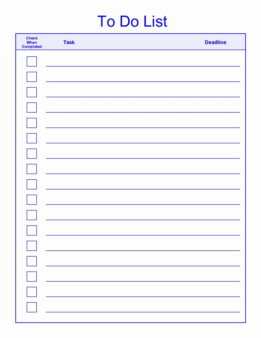 Professional to Do List Template Best Of to Do List Template