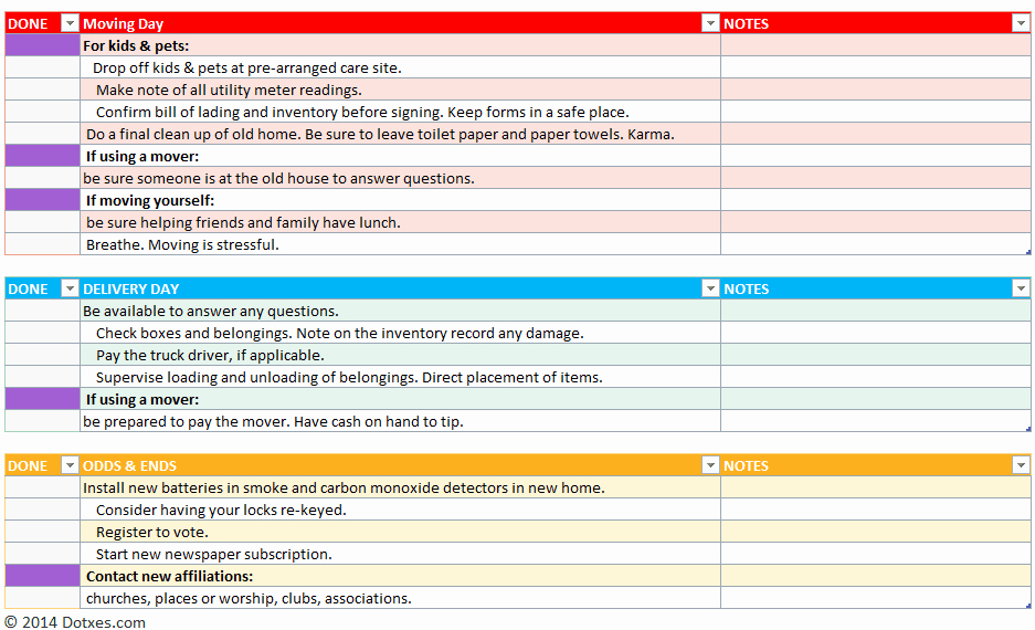 Professional to Do List Template Lovely Home Moving Checklist Template Professional Version Dotxes