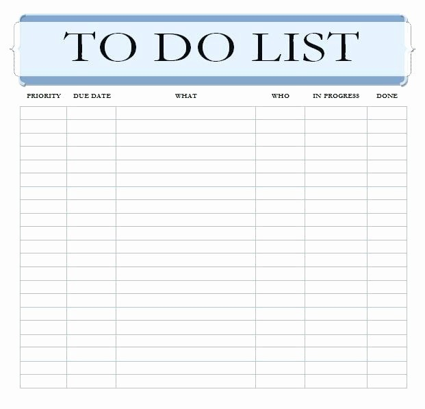 Professional to Do List Template Unique 24 Daily Task List Template 2018