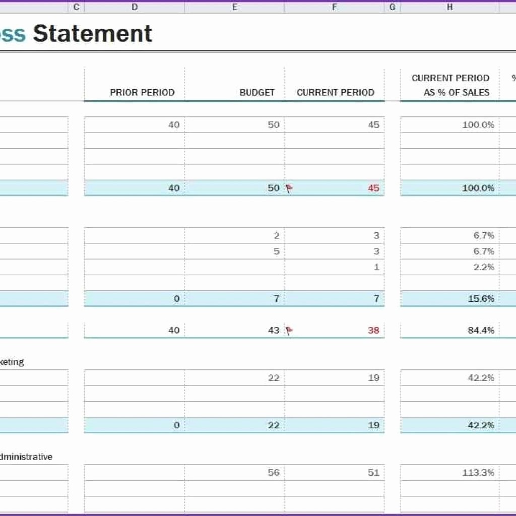 Profit & Loss Statement form Fresh Profit Loss Statement Template