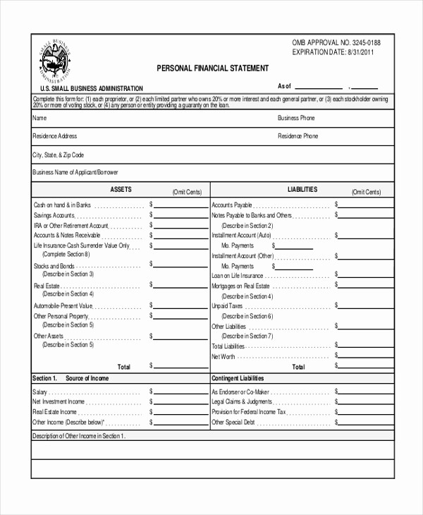 Profit & Loss Statement form Luxury Sample Profit and Loss form 9 Free Documents In Pdf