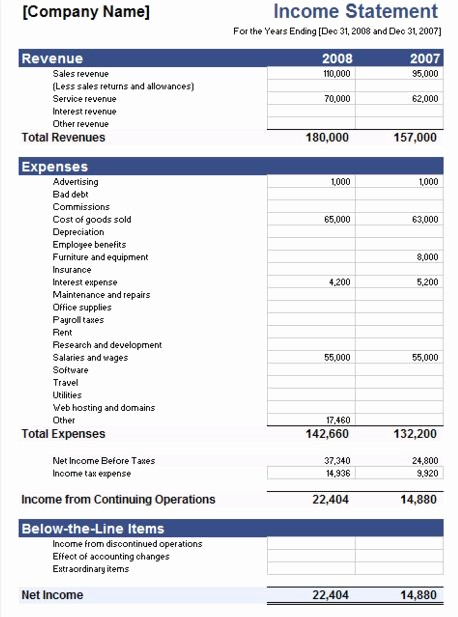 Profit & Loss Statement format Fresh 5 Free In E Statement Examples and Templates