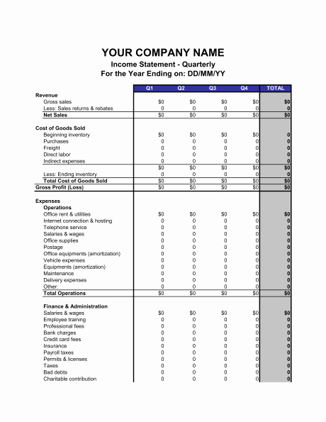 profit loss statement template 13 free pdf excel documents 11