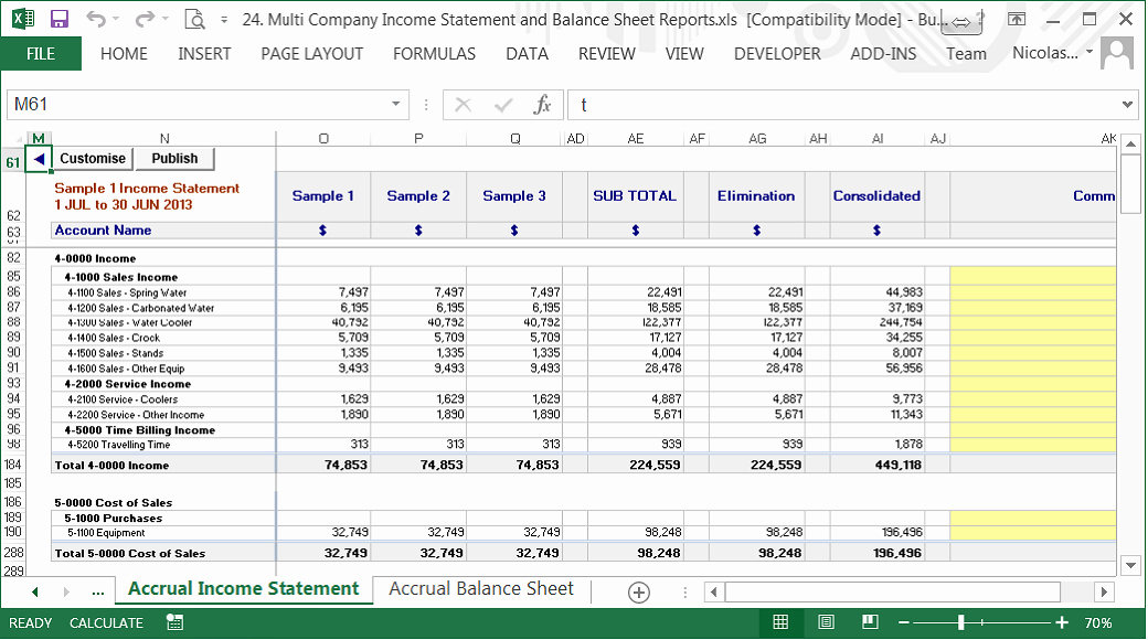 Profit and Loss Account Sheet New Pany Balance Sheet and Profit and Loss Account format