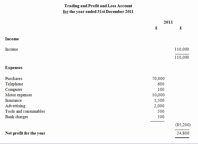 Profit and Loss Account Template Luxury 3 Profit and Loss Templates Excel Xlts