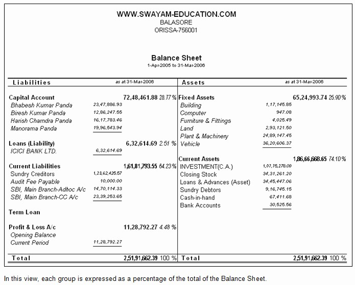 Profit and Loss Account Template Luxury format Profit and Loss Account and Balance Sheet