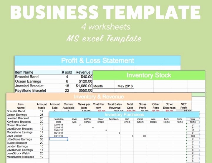 Profit and Loss Excel format Lovely Business Excel Template Profit Loss Inventory Expense Revenue