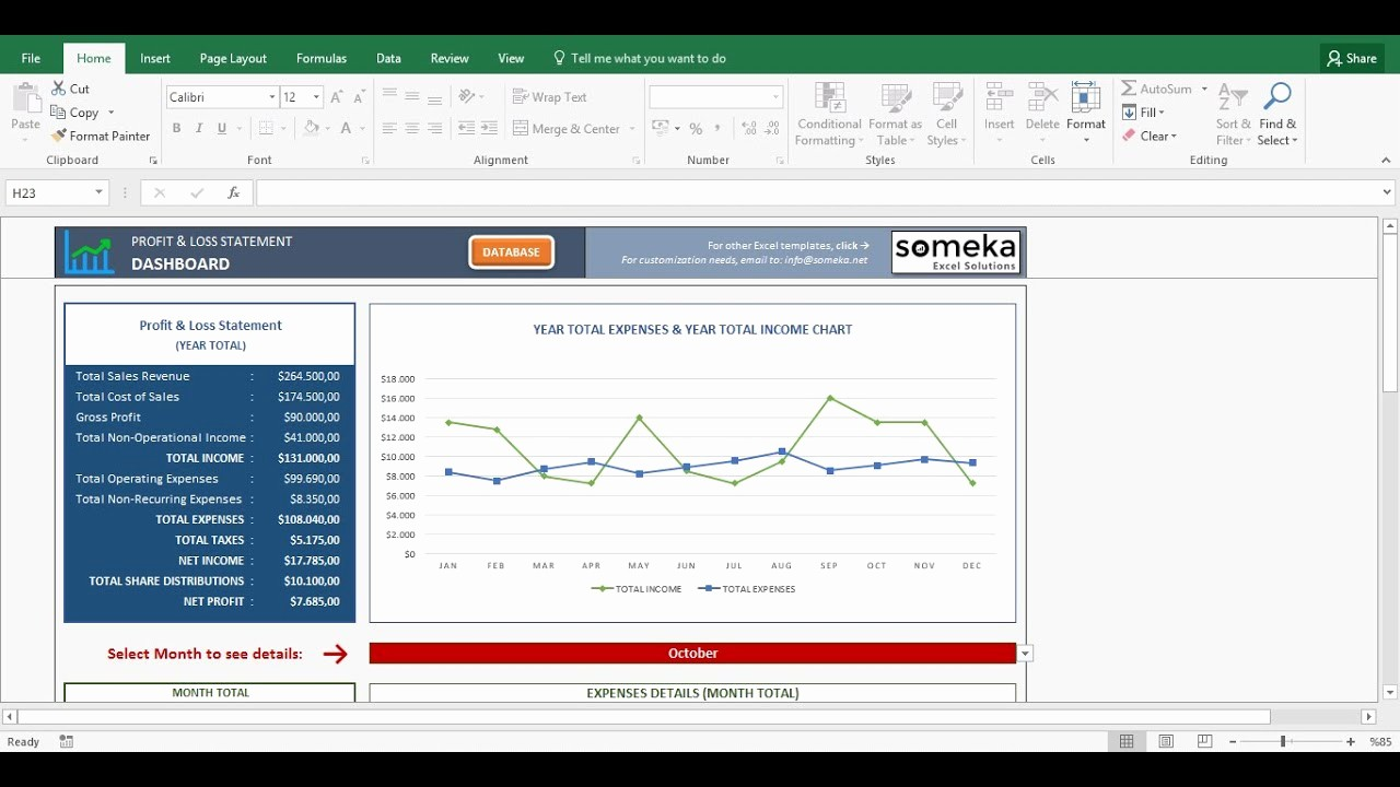 Profit and Loss Excel format Luxury Profit and Loss Statement Template Free Excel Spreadsheet
