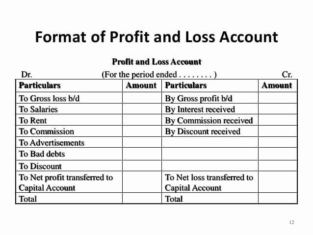 Profit and Loss Excel format New 7 Profit and Loss Account formats In Excel Excel Templates