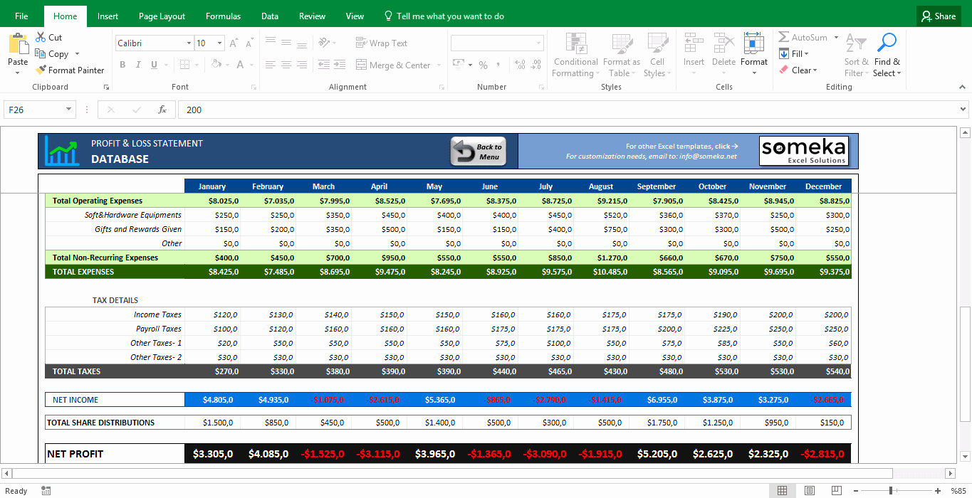Profit and Loss Excel Spreadsheet Beautiful Profit and Loss Statement Template Free Excel Spreadsheet