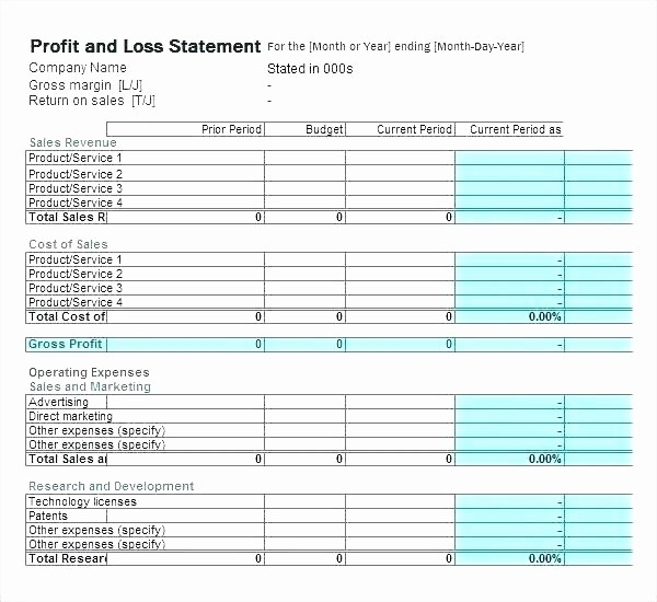Profit and Loss Excel Spreadsheet Fresh Profit and Loss Excel Spreadsheet – Agency Fo