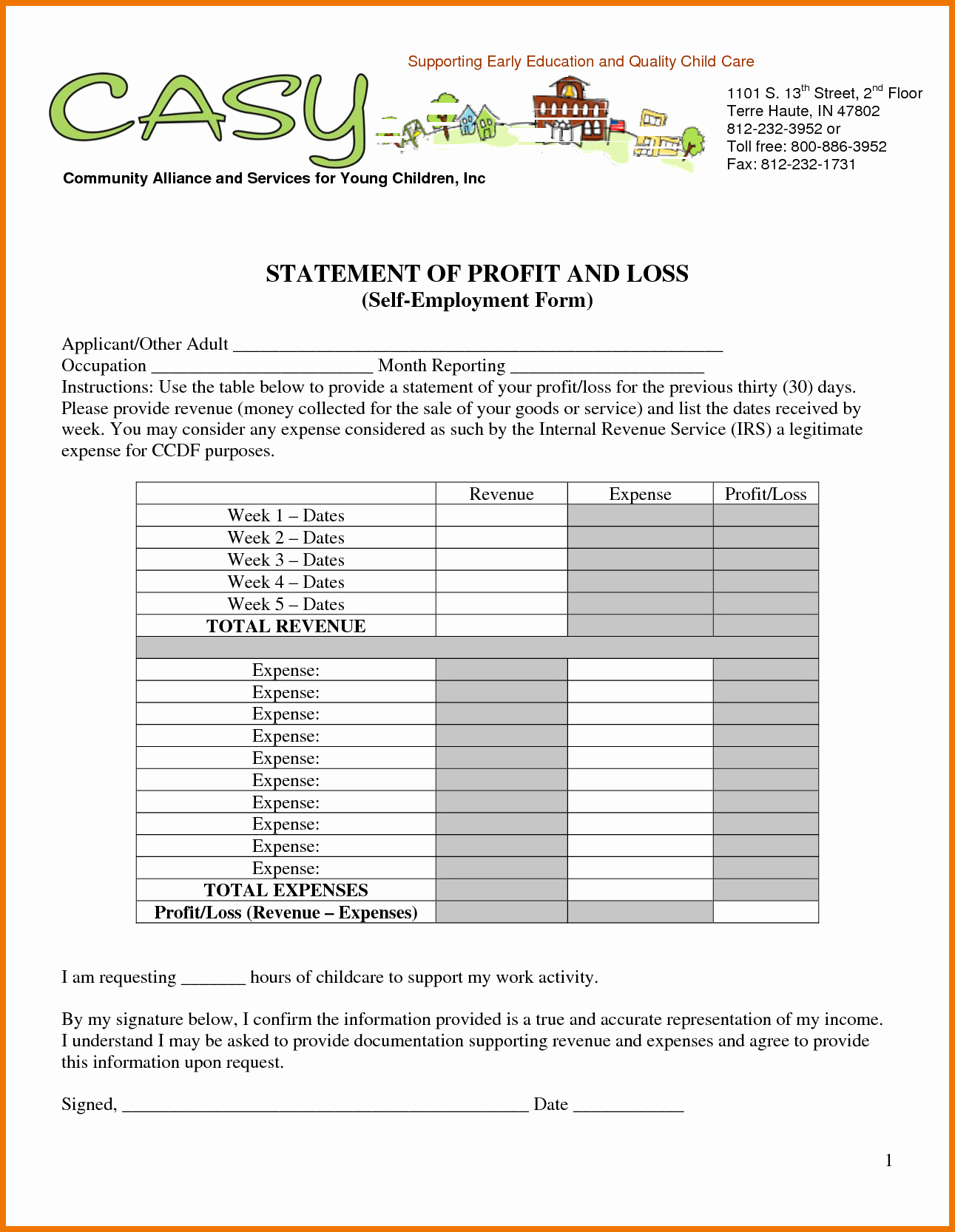 Profit and Loss Report Template Beautiful Generic Profit and Loss Statement Portablegasgrillweber