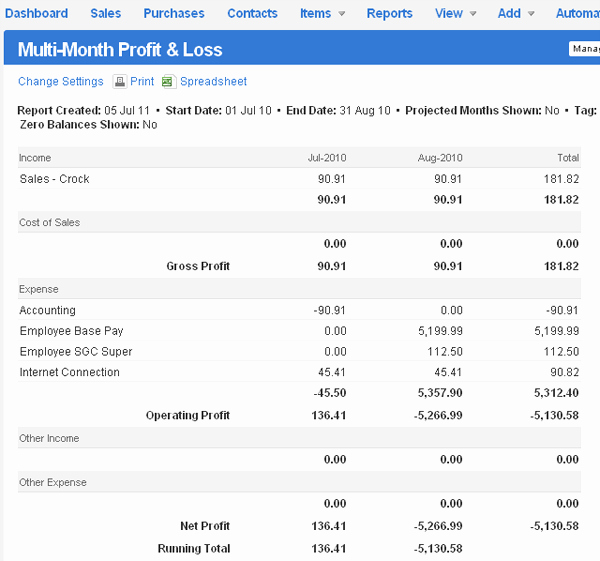 Profit and Loss Report Template Unique Profit and Loss Report