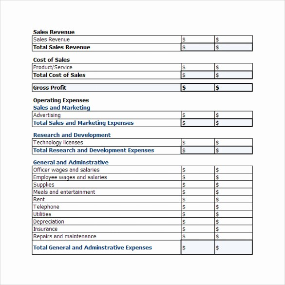 Profit and Loss Sheet Examples Elegant 19 Sample Profit and Loss Templates