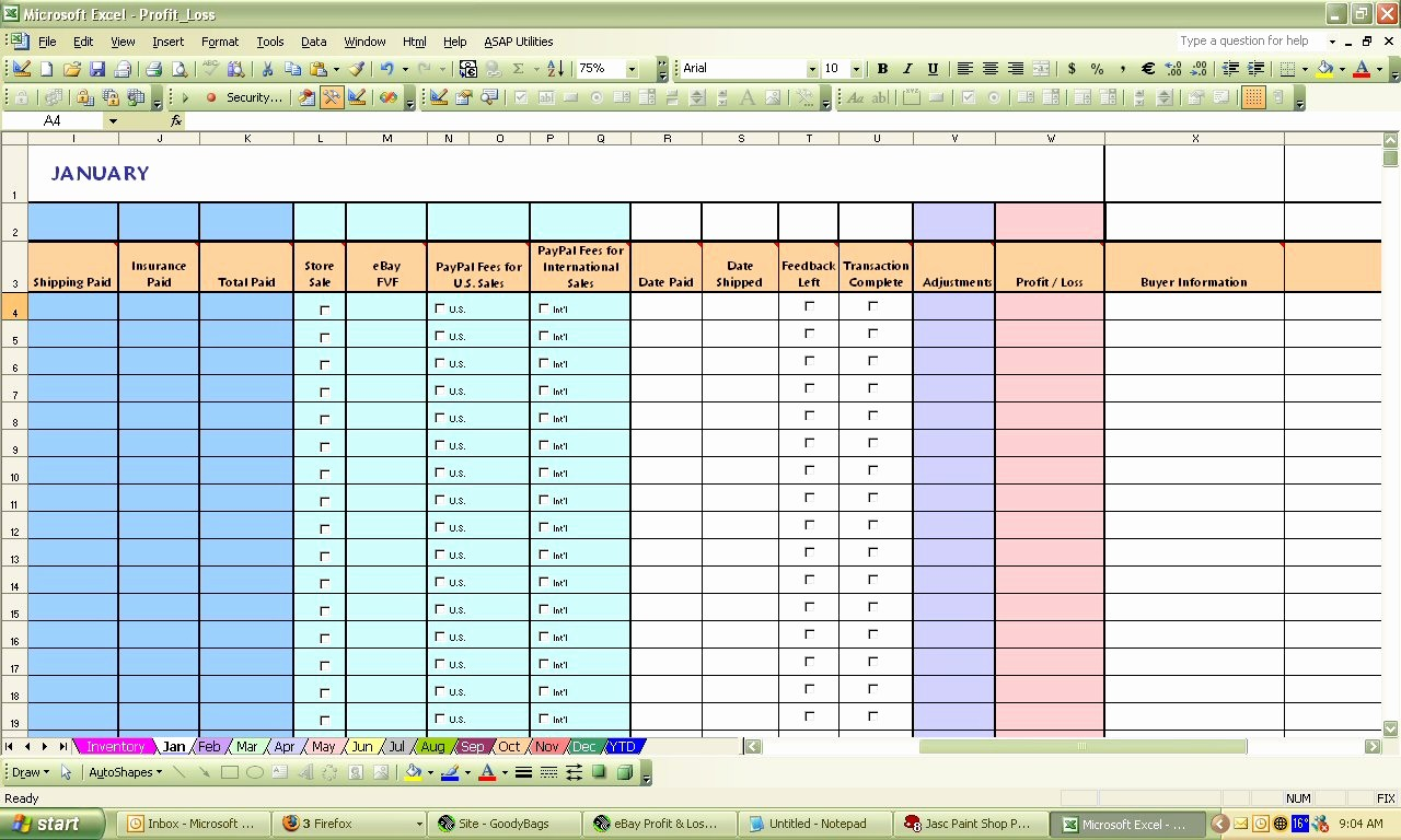 Profit and Loss Spreadsheet Example Beautiful Profit Loss Spreadsheet Template Profit Loss Spreadsheet