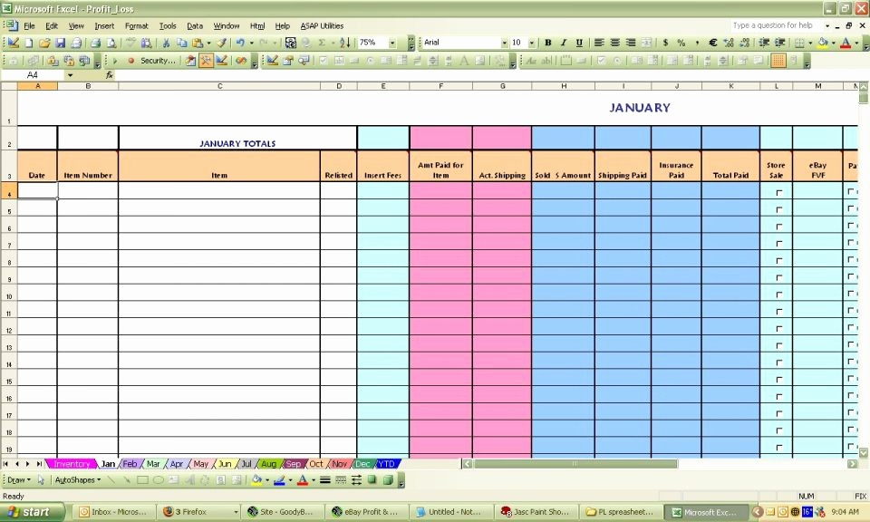 Profit and Loss Spreadsheet Example Best Of Profit and Loss Spreadsheet Example