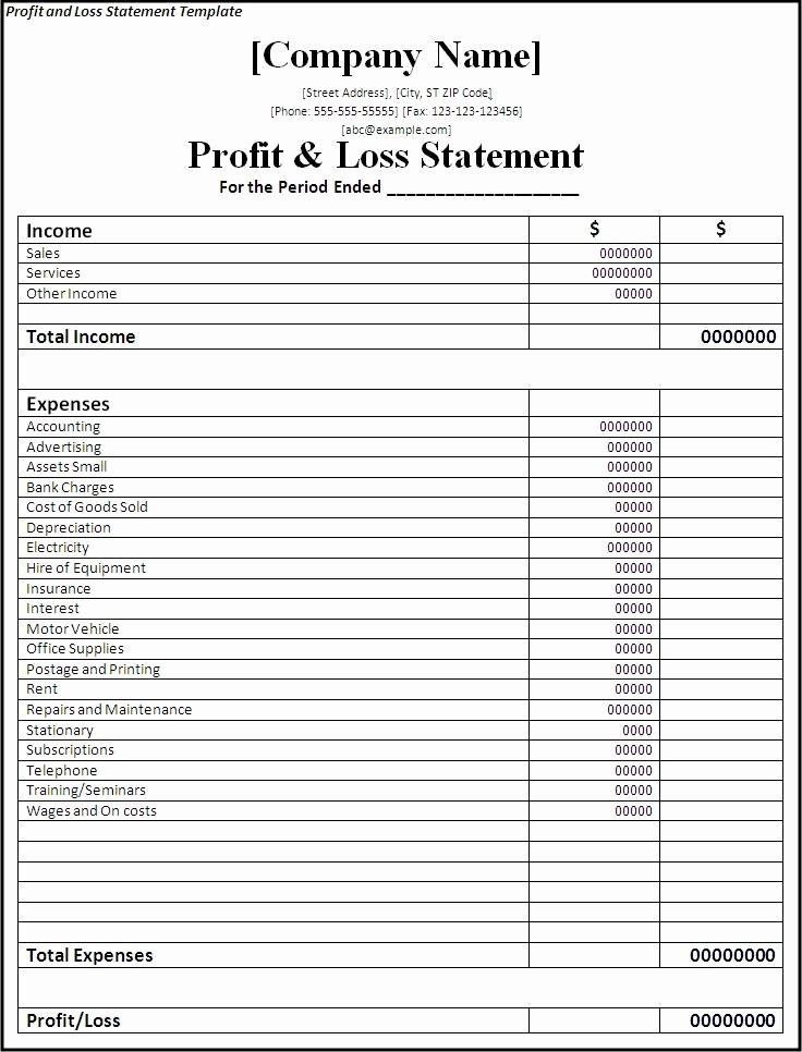Profit and Loss Statement Simple Unique Professional Freelance Content Profit and Loss Statements