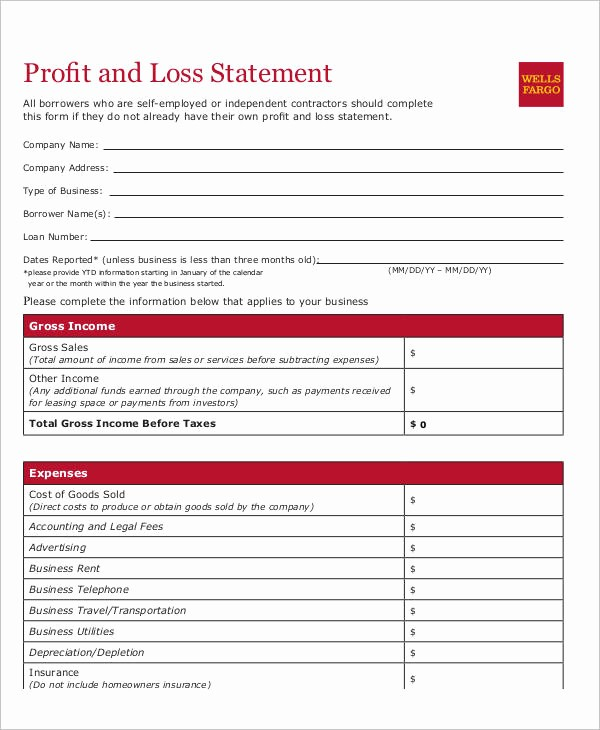 Profit and Loss Statements Examples Elegant 25 Examples Of Profit and Loss Statements