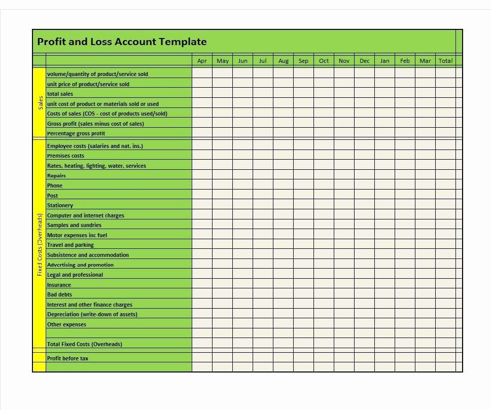 Profit and Loss Statements Template Elegant 35 Profit and Loss Statement Templates & forms