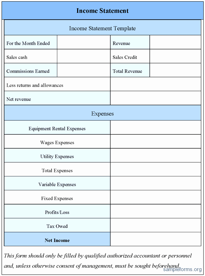 Profit and Loss Statements Template Luxury Blank Profit and Loss Statement Example Mughals